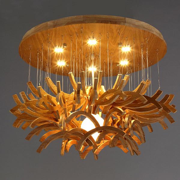 Thế Giới Đèn Gỗ - Phương pháp treo đèn chùm đúng và đẹp 6