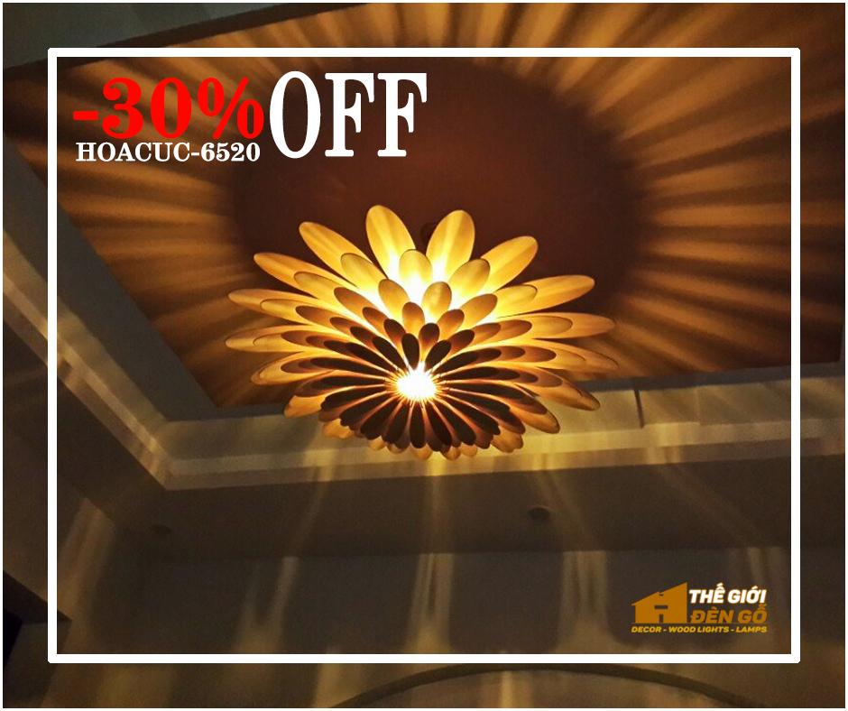 Thế Giới Đèn Gỗ - Flash sale ngày 09-09-2020 - hoa cúc