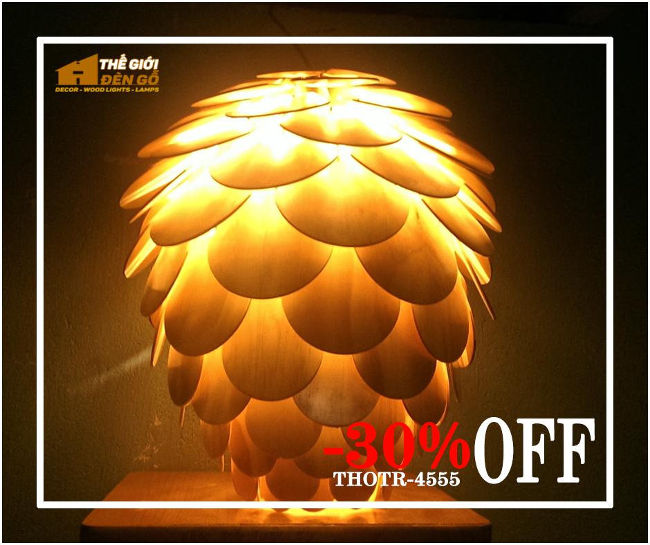 Thế Giới Đèn Gỗ - Flash sale ngày 09-09-2020 - Quả thông cánh tròn