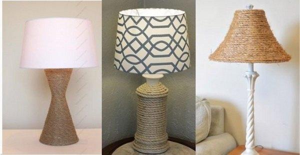 Thế Giới Đèn Gỗ - Cách làm đèn bàn trang trí phòng khách bằng dây thừng 3