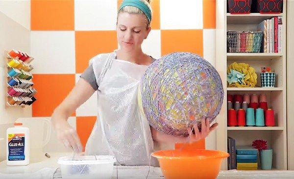 Thế Giới Đèn Gỗ - Hướng dẫn làm đèn trang trí handmade bằng len 2