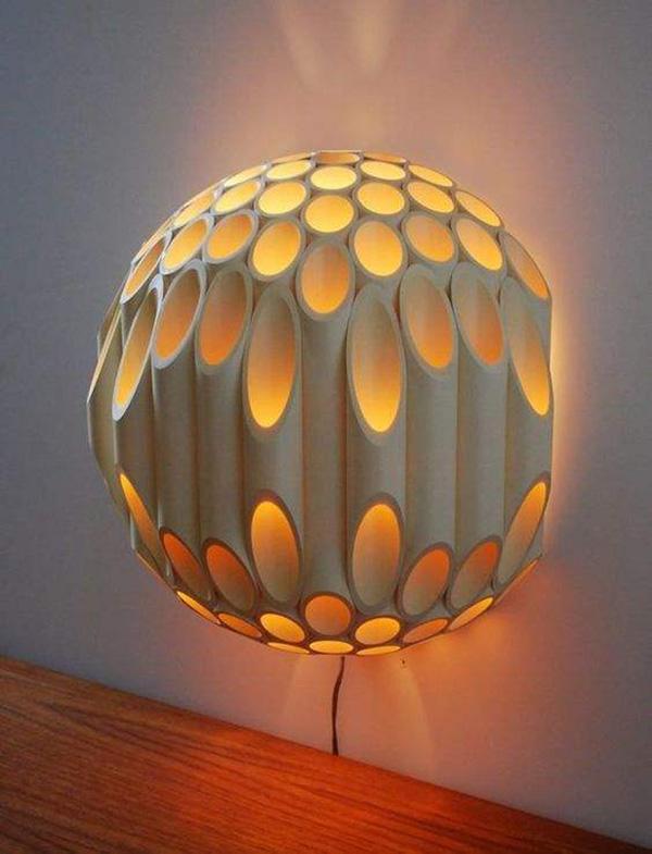 Thế Giới Đèn Gỗ - Hướng dẫn tự làm đèn trang trí bằng ống nước 10