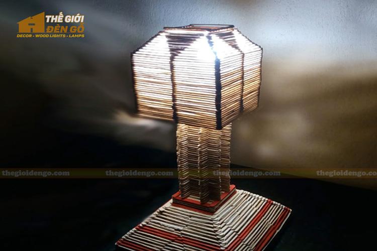 Thế Giới Đèn Gỗ - Hướng dẫn tự làm đèn bàn trang trí đơn giản nhưng cực đẹp 13