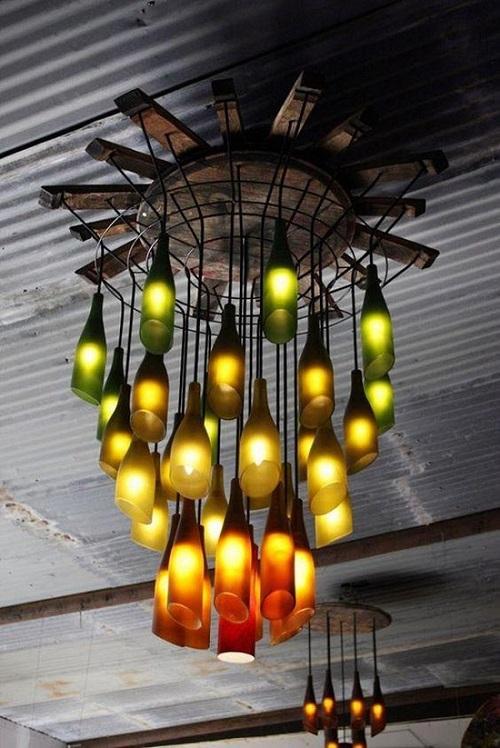 Thế Giới Đèn Gỗ - Cách làm đèn handmade bằng chai thủy tinh 3