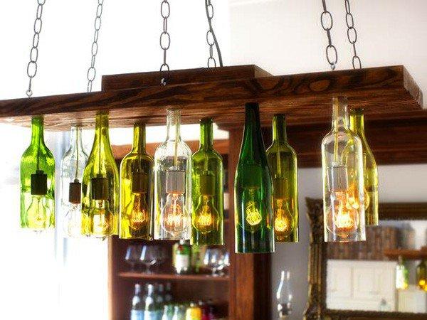 Thế Giới Đèn Gỗ - Cách làm đèn handmade bằng chai thủy tinh 4