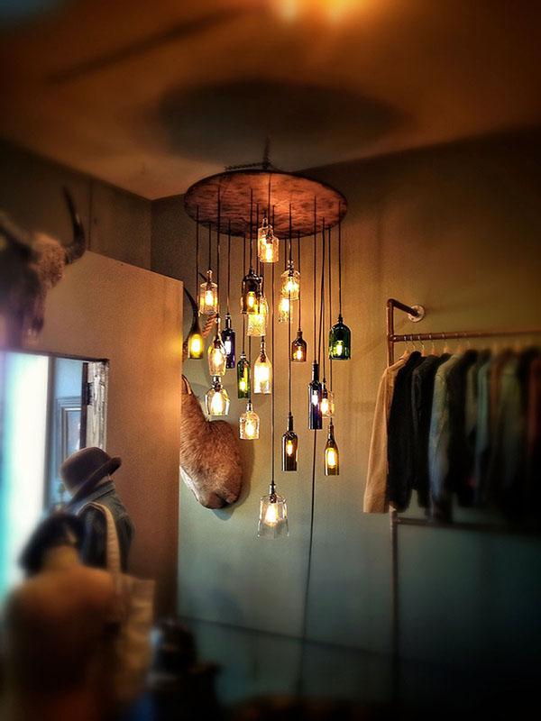Thế Giới Đèn Gỗ - Cách làm đèn handmade bằng chai thủy tinh 7