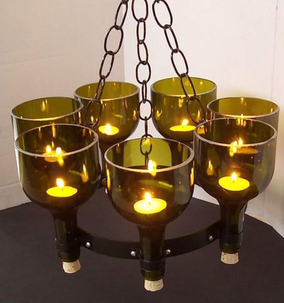 Thế Giới Đèn Gỗ - Cách làm đèn handmade bằng chai thủy tinh 8