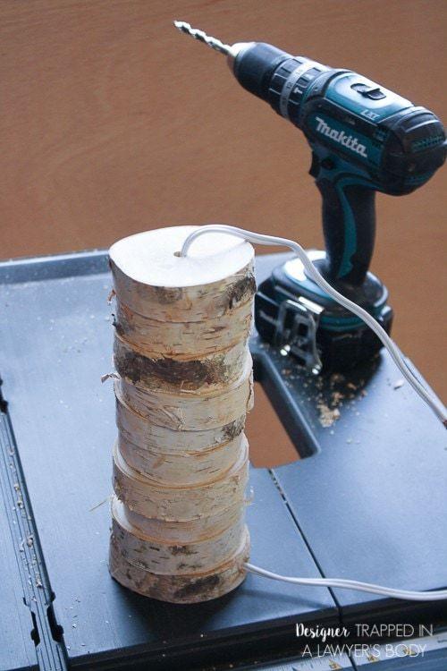 Thế Giới Đèn Gỗ - Hướng dẫn làm đèn gỗ để bàn từ lát gỗ cực đơn giản 6