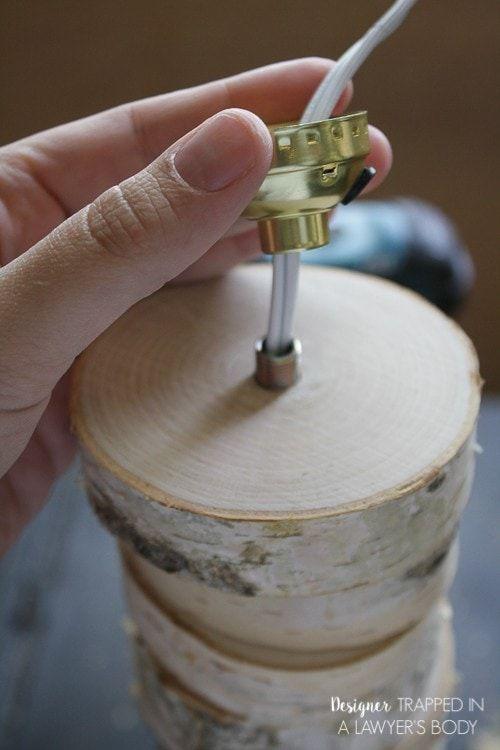 Thế Giới Đèn Gỗ - Hướng dẫn làm đèn gỗ để bàn từ lát gỗ cực đơn giản 8