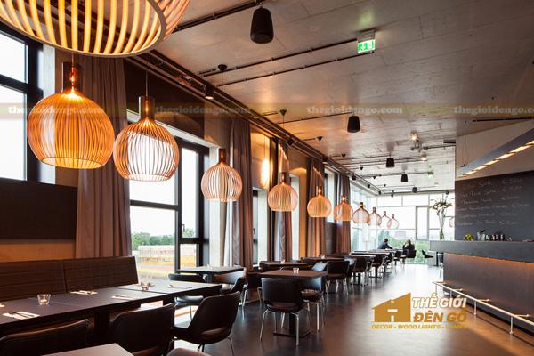 Thế Giới Đèn Gỗ - Đèn gỗ trang trí quán cafe 10