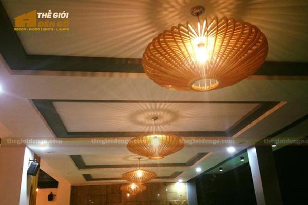 Thế Giới Đèn Gỗ - Đèn gỗ trang trí quán cafe 11