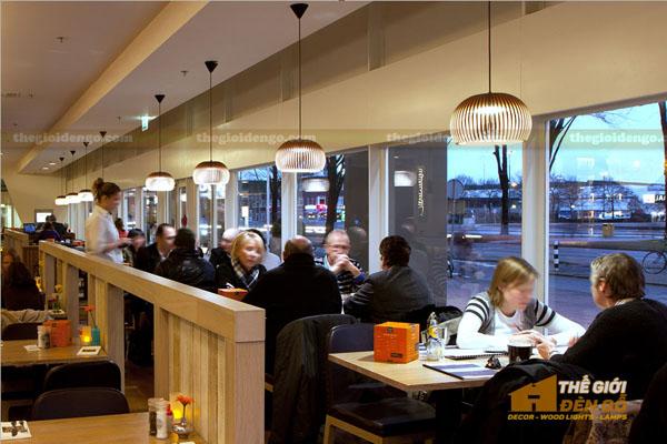 Thế Giới Đèn Gỗ - Đèn gỗ trang trí quán cafe 14