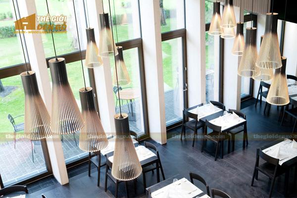 Thế Giới Đèn Gỗ - Đèn gỗ trang trí quán cafe 2