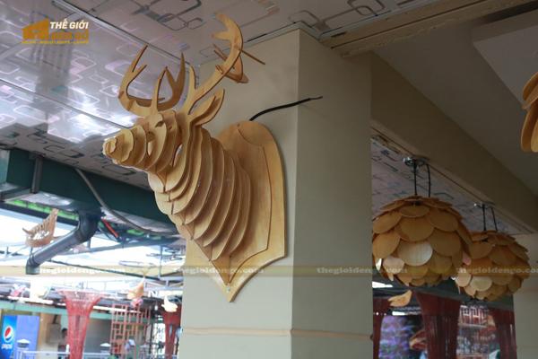 Thế Giới Đèn Gỗ - Đèn gỗ trang trí quán cafe 20