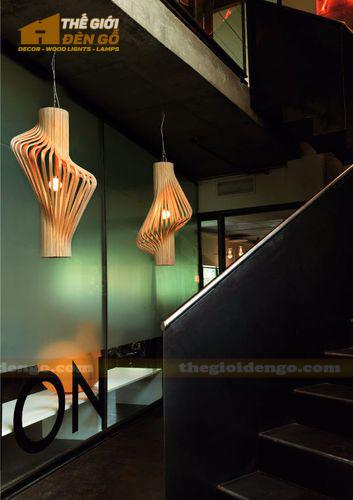 Thế Giới Đèn Gỗ - Đèn gỗ trang trí quán cafe 6