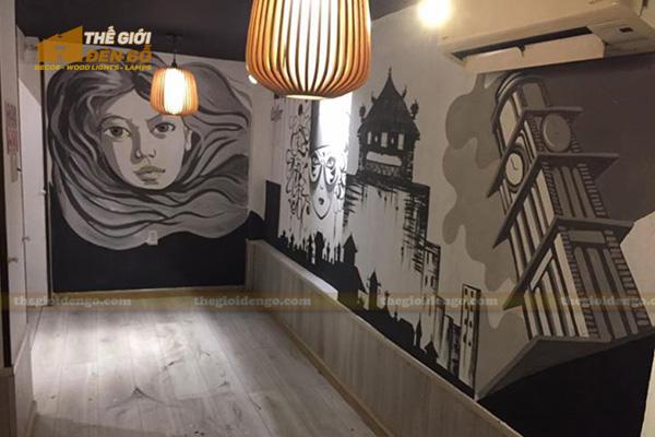 Thế Giới Đèn Gỗ - Đèn gỗ trang trí quán cafe 7