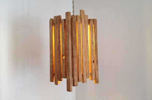 Thế Giới Đèn Gỗ - 8 ý tưởng tự làm đèn chùm bằng gỗ 3