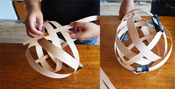 Thế Giới Đèn Gỗ - Cách làm đèn ngủ handmade bằng gỗ veneer 4