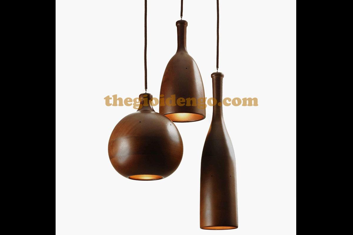 Thế Giới Đèn Gỗ - Đèn gỗ trang trí tiện nguyên khối
