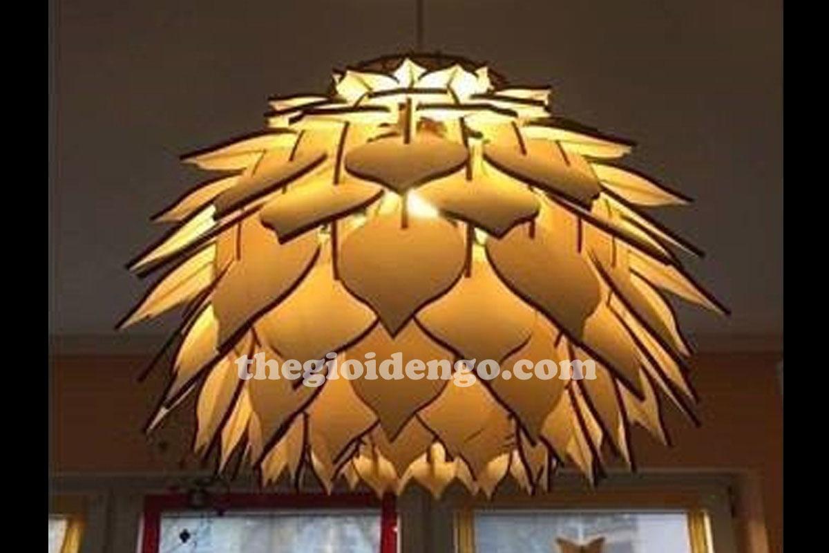 Thế Giới Đèn Gỗ - Đèn gỗ trang trí hoa thược dược