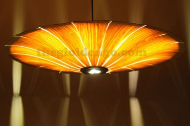 Thế giới đèn gỗ - Đèn gỗ trang trí veneer dgvn100