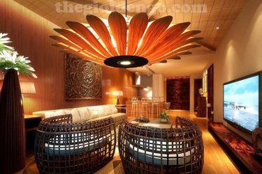Thế giới đèn gỗ - Đèn gỗ trang trí veneer dgvn101