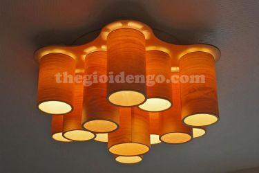 Thế giới đèn gỗ - Đèn gỗ trang trí veneer dgvn102