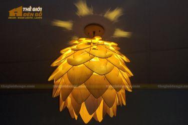 thegioidengo.com - Đèn gỗ trang trí Atiso cánh nhọn