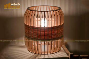Thế giới đèn gỗ - Đèn gỗ trang trí trống cơm