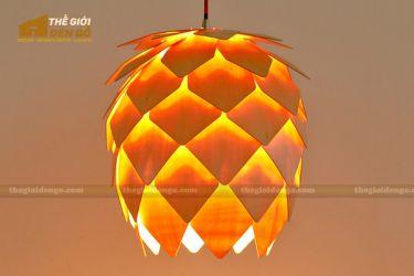 Thế Giới Đèn Gỗ - Đèn gỗ trang trí quả dứa