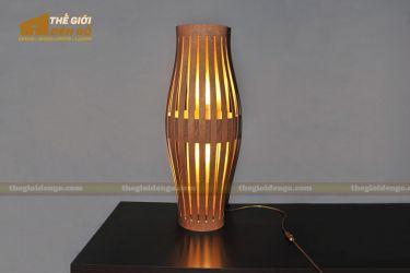 Thế giới đèn gỗ - Đèn gỗ trang trí để bàn TGDG-12