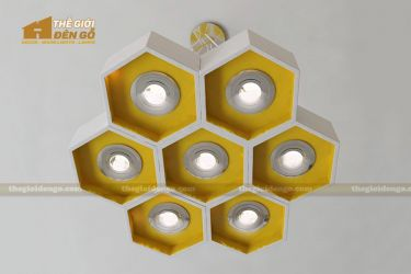 Thế Giới Đèn Gỗ - Đèn gỗ trang trí tổ ong 2