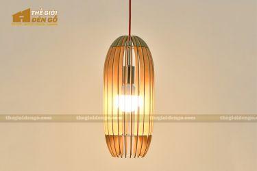 Thế Giới Đèn Gỗ - Đèn gỗ trang trí bầu dài