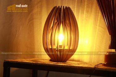 thegioidengo.com - Đèn gỗ trang trí búp sen