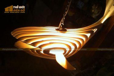 Thế Giới Đèn Gỗ - Đèn gỗ trang trí cá voi