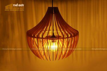 Thế Giới Đèn Gỗ - Đèn gỗ trang trí chụp nhọn