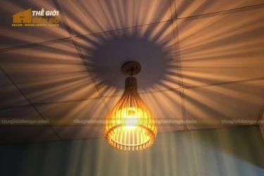 thegioidengo.com - Đèn gỗ trang trí chụp tròn