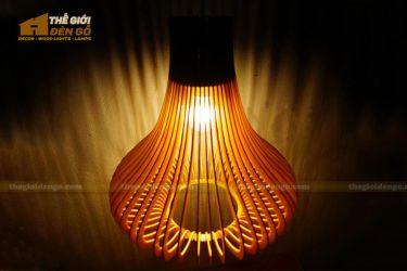 Thế giới đèn gỗ - Đèn gỗ trang trí củ tỏi