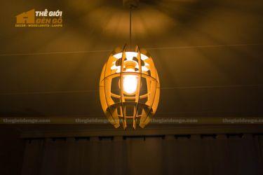 Thế giới đèn gỗ - Đèn gỗ trang trí cung bầu 2