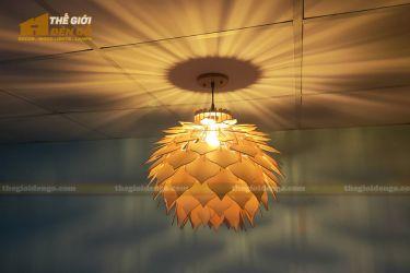 Thế Giới Đèn Gỗ - Đèn gỗ trang trí hoa thược dược 11