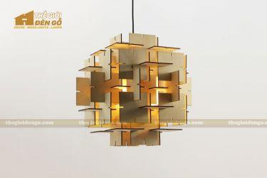 Thế giới đèn gỗ - Đèn gỗ trang trí ma trận vuông