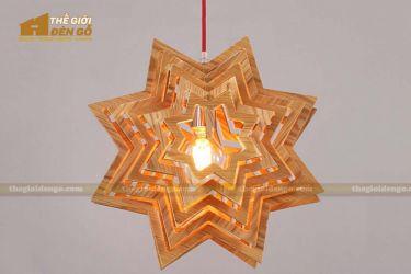 Thế giới đèn gỗ - Đèn gỗ trang trí ngôi sao
