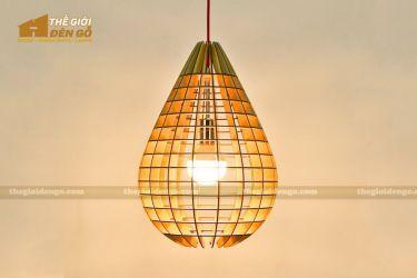 Thế giới đèn gỗ - Đèn gỗ trang trí quả lê