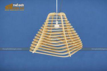 Thế giới đèn gỗ - Đèn gỗ trang trí sóng lượn