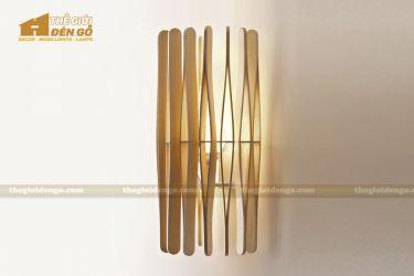 Thế giới đèn gỗ - Đèn gỗ trang trí treo tường DGW002