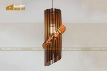 Thế giới đèn gỗ - Đèn gỗ trang trí hình xoắn ốc