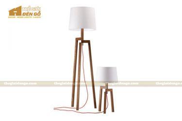 Thế Giới Đèn Gỗ - Đèn gỗ trang trí để sàn DGS026