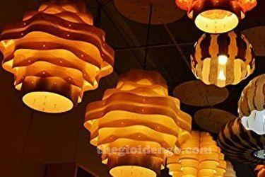 Thế Giới Đèn Gỗ - Đèn gỗ trang trí veneer dgvn106-1