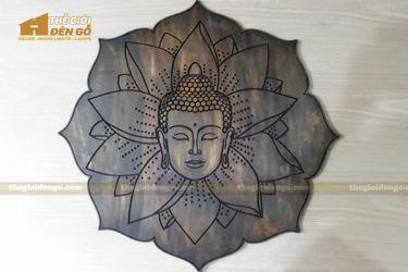 Thế Giới Đèn Gỗ - Tranh gỗ Đức Phật hoa sen