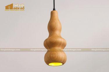 Thế Giới Đèn Gỗ - Đèn gỗ trang trí tiện nguyên khối DGT005